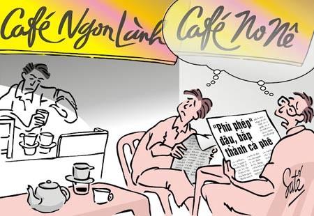 Cafe giả, kém chất lượng