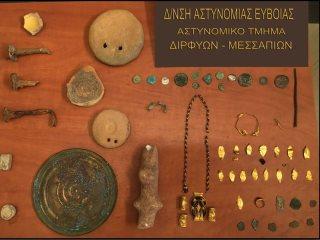 Εύβοια: Σύλληψη 59χρονου αρχαιοκάπηλου – Είχε αντικείμενα από αρχαίο τάφο