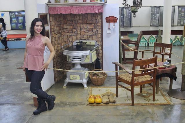 Cozinha de imigrantes ricos, no Museu de Holambra.