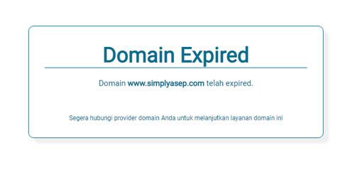 inilah domain milik saya yang belum diperpanjang.  Domain ini menggunakan ID Protection sehingga suliat atau sukar untuk di whois oleh orang.  Gambar dari Internet