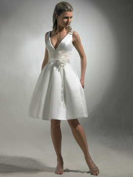 Perfect Wedding Short Skirt Wedding Dress With Baby Doll Silhouette