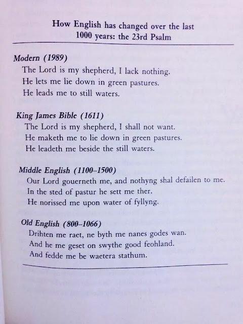 evolução, inglês, salmo 23