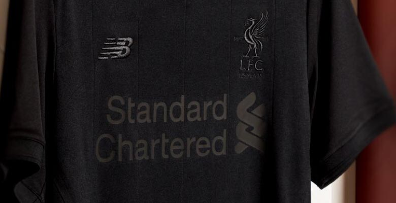 9ce703efa64 New Balance today revealed an all-black commemorative edition of the  Liverpool 17-18 home kit