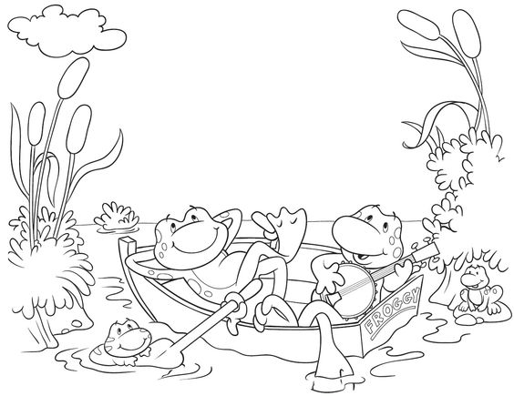 Froggy Coloring Pages - Castrophotos