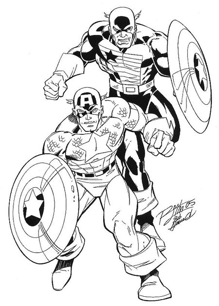 baby captain america coloring pages - photo#44