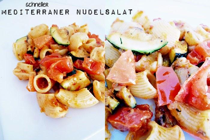 schneller mediterraner Nudelsalat