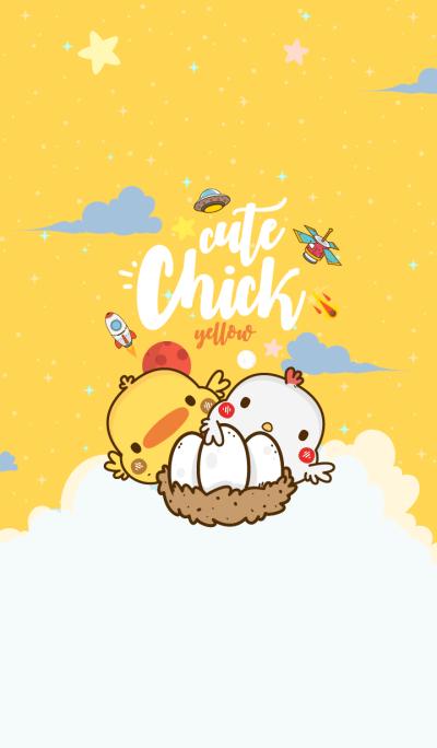 Cute Chick Galaxy Yellow