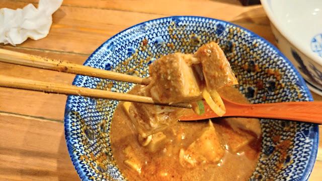 麺や兼虎のつけ麺 チャーシュー濃厚