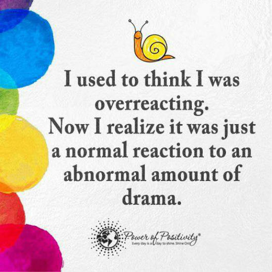 I Used To Think I Was Overreacting Now I Realize It Was A Normal