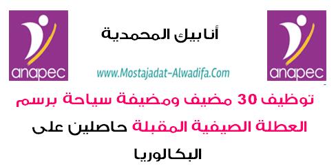 أنابيك - المحمدية: توظيف 30 مضيف ومضيفة سياحة برسم العطلة الصيفية المقبلة حاصلين على البكالوريا