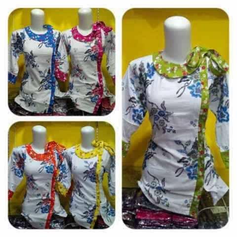 Batik Sarimbit Blus Kancing Di Samping Model Anyar Busana Baju