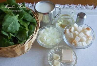 Preparare supa crema de spanac - etapa 1