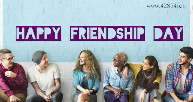 happy friendship day write in blue color