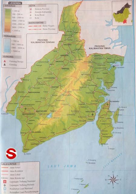 Gambar Peta Atlas Provinsi Kalimantan Selatan