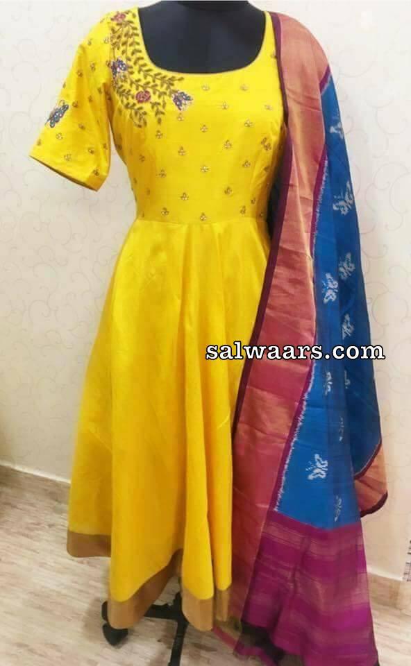 Silk Salwar Ikkat Duppatta