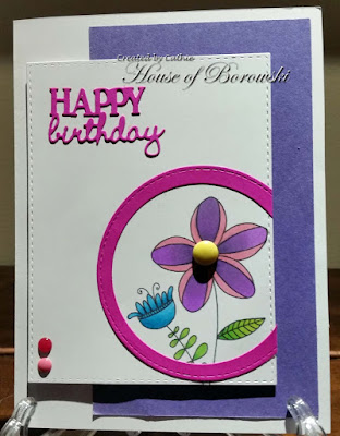 Diecut Divas, Janes Doodle Doodle bloom