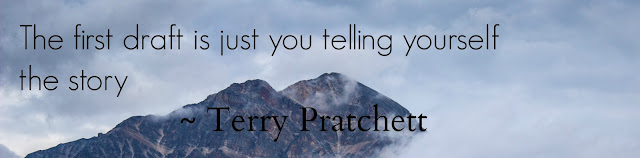 The first draft is just you telling yourself the story - Terry Pratchett Quote