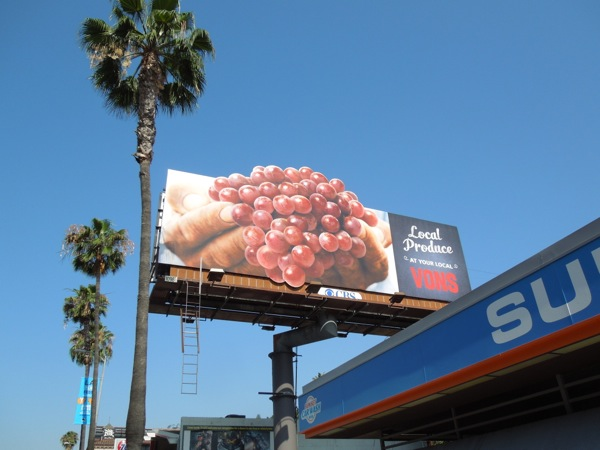 Local produce Vons grapes special extension billboard