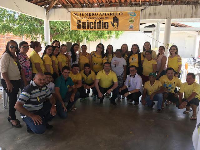 CAPS em Riacho dos Cavalos, realizou uma roda de conversa sobre o Setembro Amarelo com o seguinte tema: Suicídio