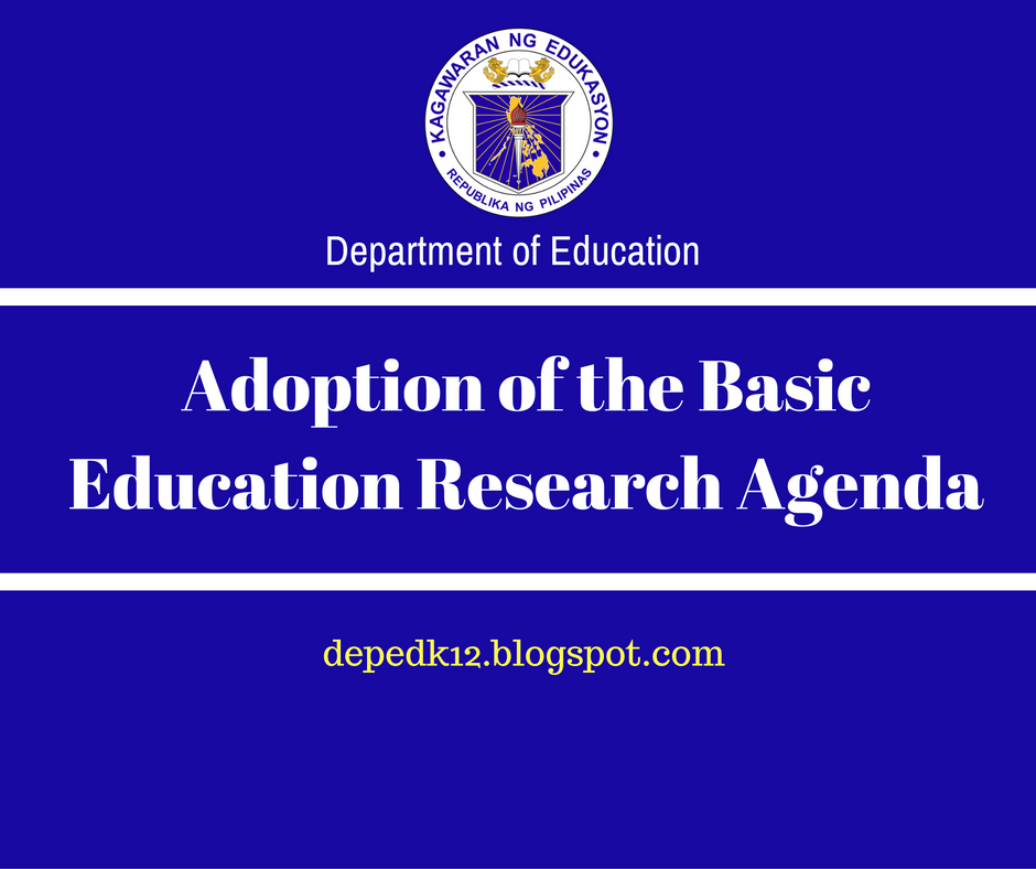 The Department Of Education: Adoption Of The Basic Education Research