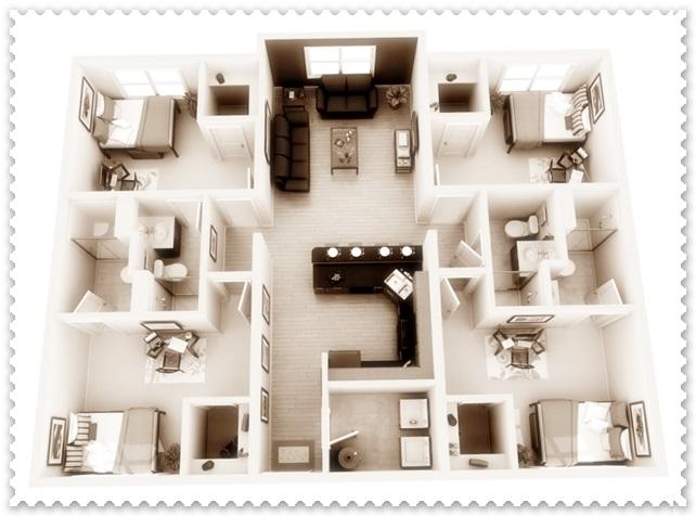 rumah minimalis 1 lantai 4 kamar tidur
