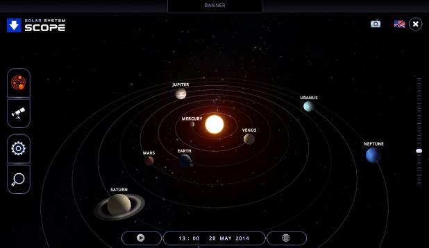 SmarterPhysics Astronomy - Solar system map 3d