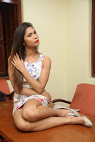 Nishi Ganda stunning cute in Flower Print short dress at Tick Tack Movie Press Meet March 2017 235.JPG