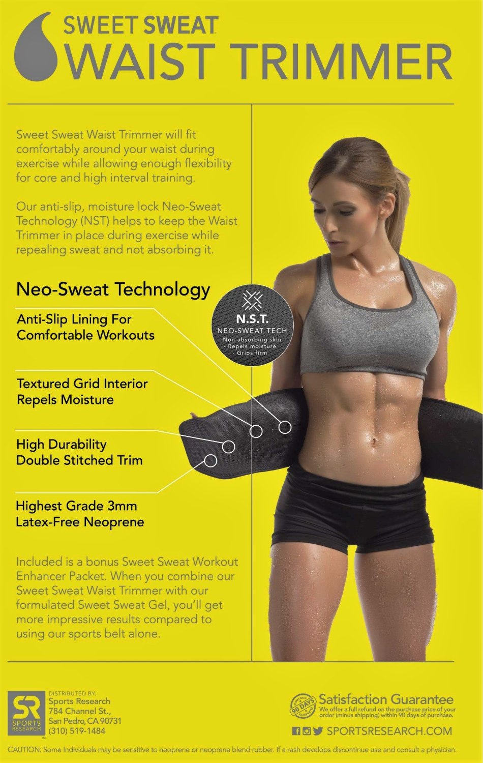 caa8c97d25 GET YOUR SWEAT ON  The Sweet Sweat Waist Trimmer increases your core  temperature during exercise improving sweating and activity.