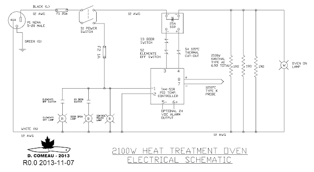 diy knifemaker s info center heat treatment oven project i ve had so many requests for a simple 240 v version i made this schematic note the 240 v version uses some but not all the same parts listed on the ht2100