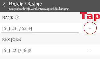 Backup setting perubahan icon bar