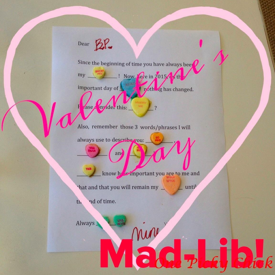 Valentine S Mad Lib Downloadable