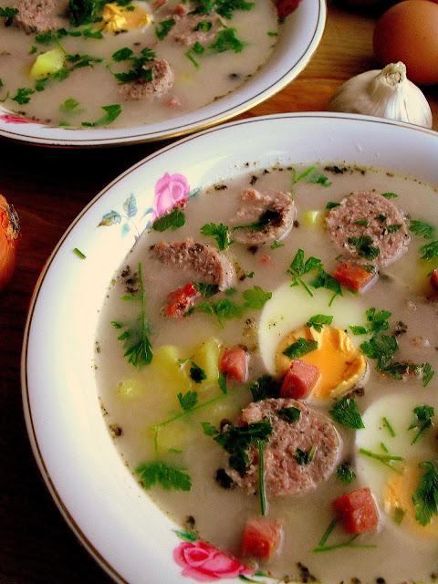 Żurek / Polish Sour Rye Soup (Zurek)