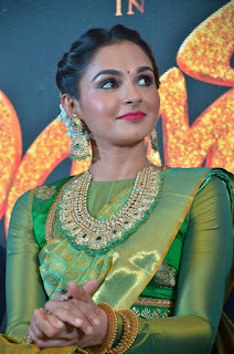 Andrea Jeremiah In Green Pattu Saree