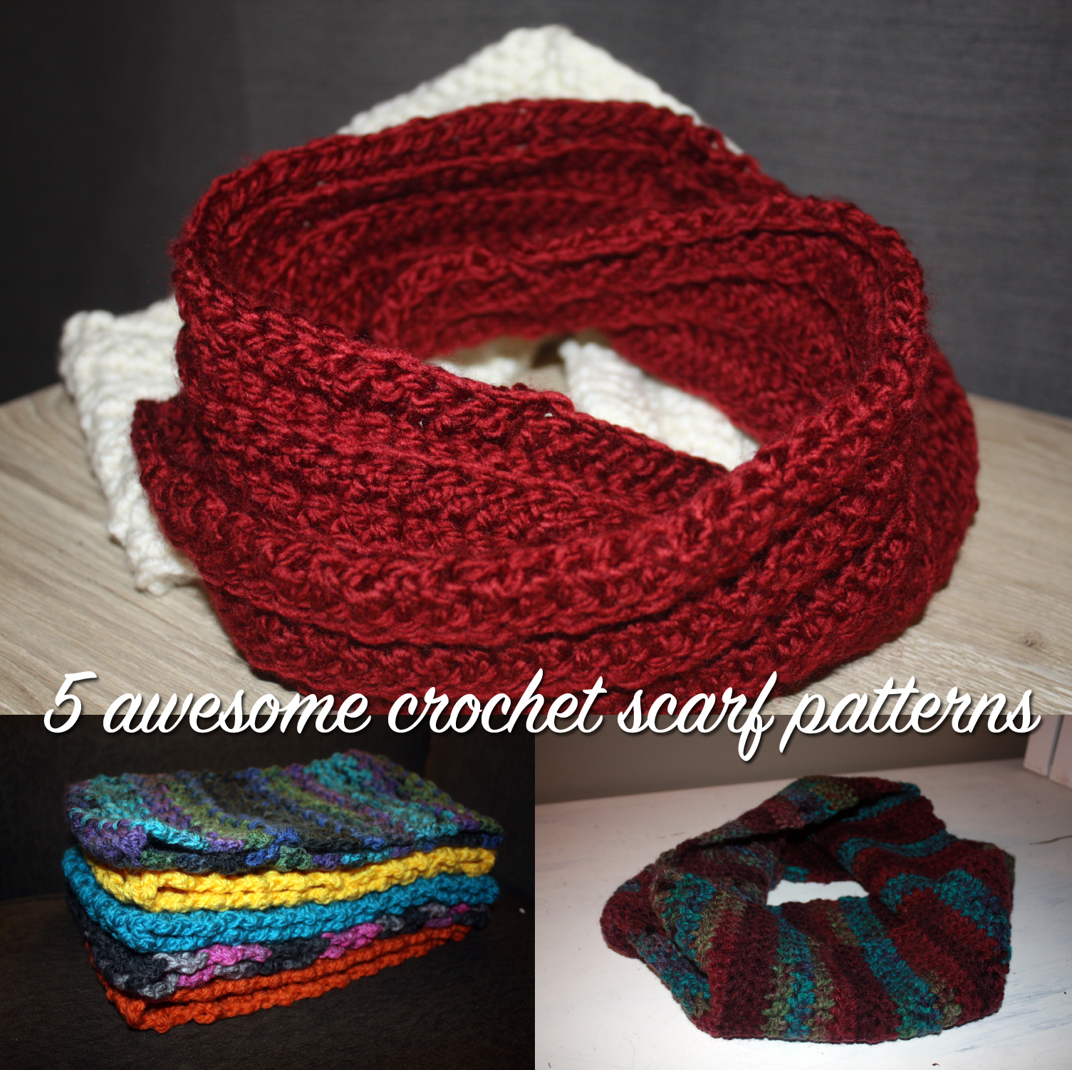 5 Awesome Free Crochet Scarf Patterns For Beginners Stacys Stitches