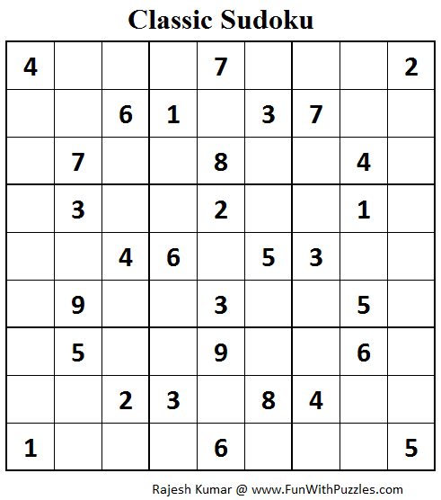 Classic Sudoku (Fun With Sudoku #63)