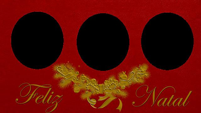 Natal Red 50 com Feliz natal- 3 fotos