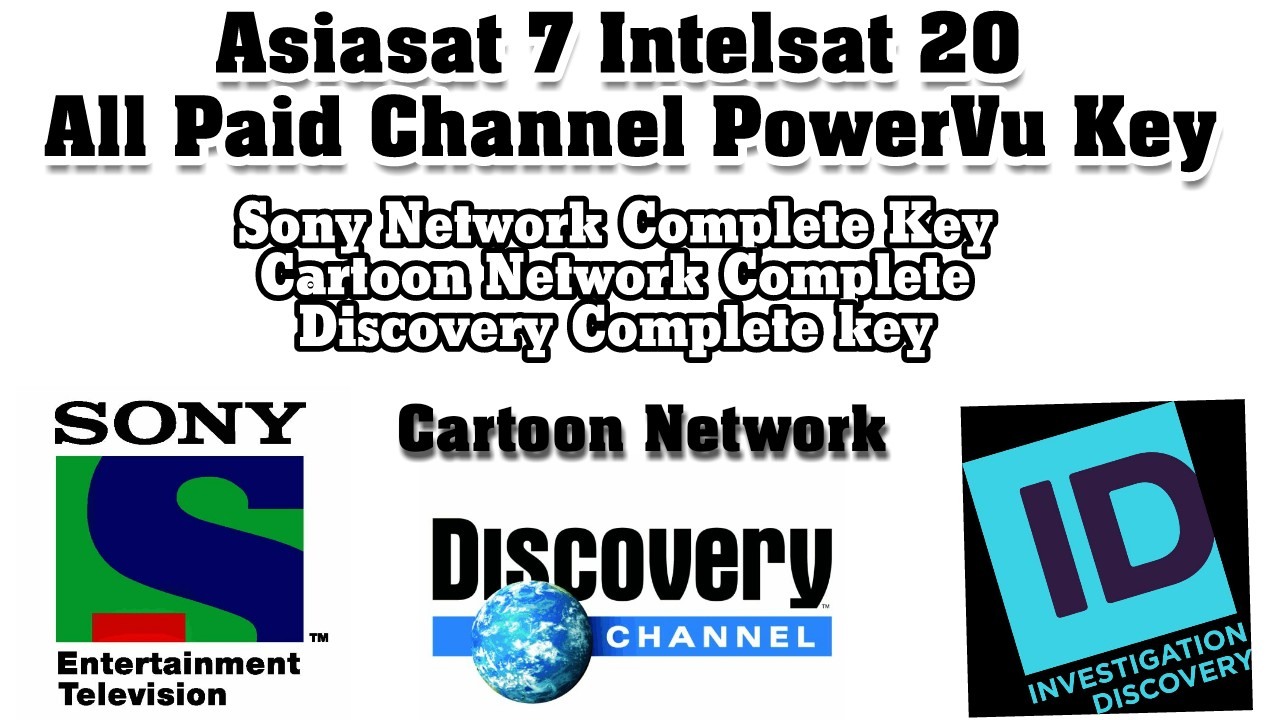 Asiasat 7 aur Intelsat 20 सभी paid चैनल्स की PowerVu keys