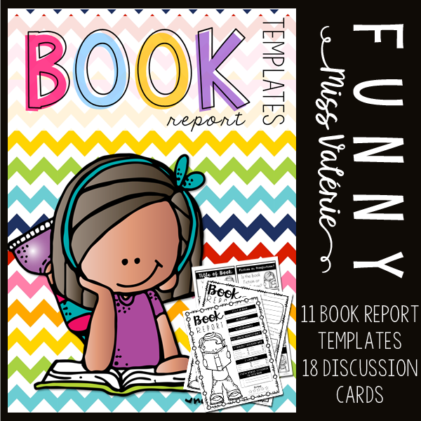 https://www.teacherspayteachers.com/Product/Book-Report-Templates-3137264
