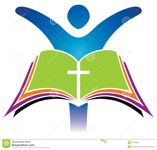 Holy Bible Cross Logo Stock Images