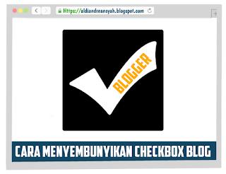 Menyembunyikan checkbox