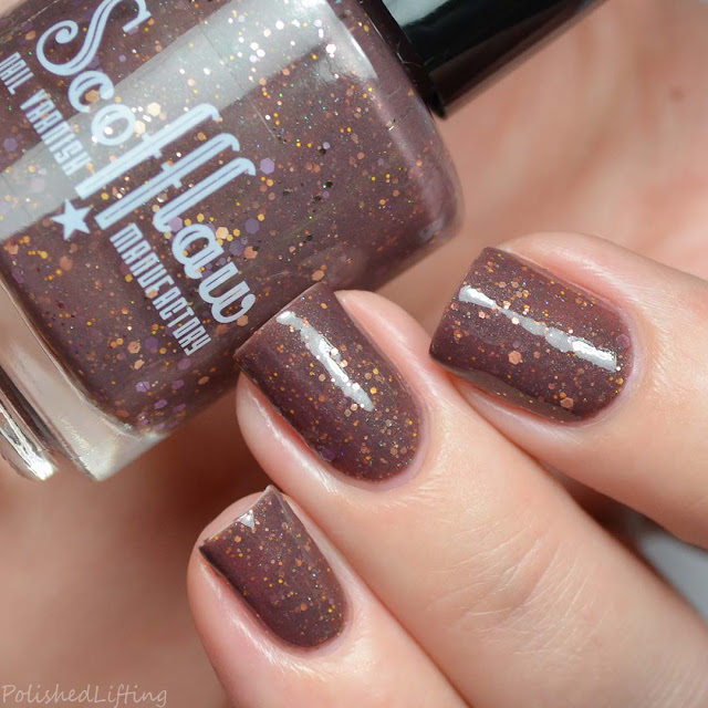 chocolate crelly nail polish