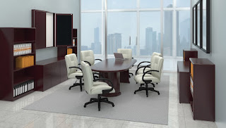 Traditional Wood Veneer Boardroom Furniture