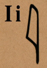 image: letter i in hieroglyphics