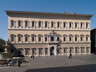 The Palazzo Farnese now houses the French Embassy