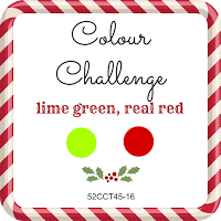 52 CCT colour challenge, lime green and real red
