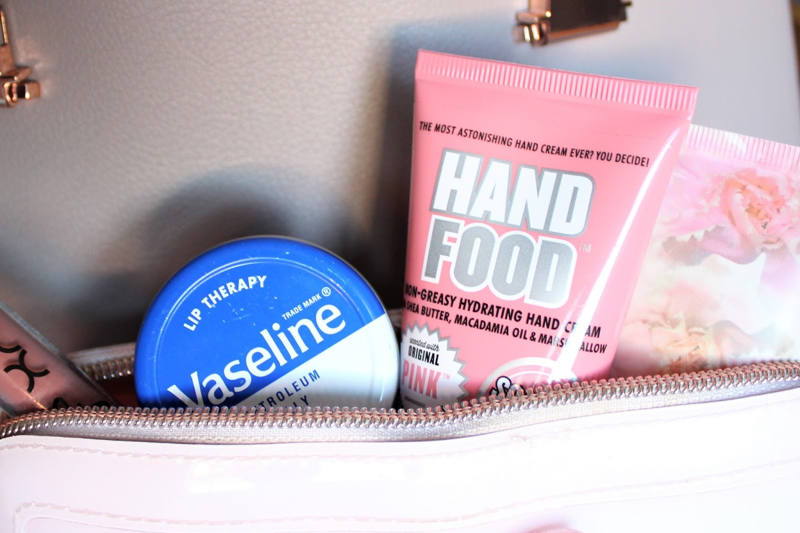 winter handbag essentials blog post