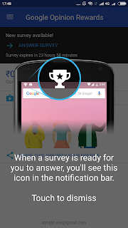 Google Opinion Reward App