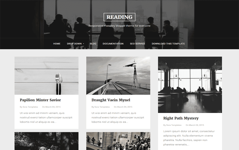 Reading Free Blogger Template