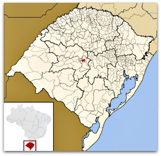 Cidade de Faxinal do Soturno no mapa do Rio Grande do Sul