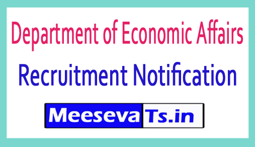 Department of Economic Affairs DEA Recruitment